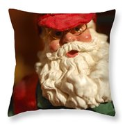 Santa Claus - Antique Ornament - 16 Throw Pillow