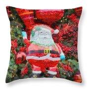 Santa Claus Balloon Throw Pillow