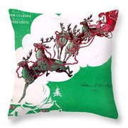 Santa Claus Is Comin To Town Throw Pillow