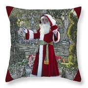 Santa Claus Walt Disney World Oval Throw Pillow