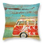 Santa Cruise Throw Pillow by Danny Phillips