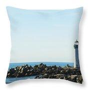 Santa Cruz California Lighthouse Throw Pillow