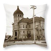 Santa Cruz High School On Walnut Street. Circa 1910 Photo By Besaw Throw Pillow