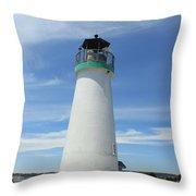 Santa Cruz Lighthouse Throw Pillow