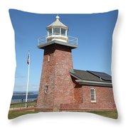 Santa Cruz Lighthouse Surfing Museum California 5d23940 Throw Pillow