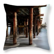 Santa Cruz Pier California Throw Pillow