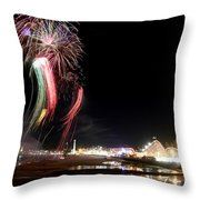 Santa Cruz Wharf 100 Year Anniversary Throw Pillow
