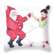Santa Dances Throw Pillow