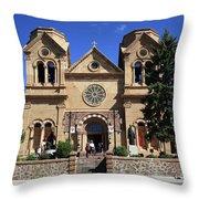 Santa Fe - Basilica Of St. Francis Of Assisi Throw Pillow