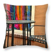 Santa Fe Cafe And Boutique Throw Pillow