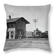 Santa Fe Railway, 1883 Throw Pillow