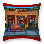 Santa Fe Restaurant Throw Pillow