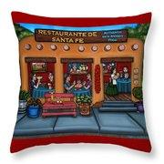 Santa Fe Restaurant Throw Pillow
