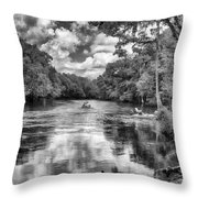 Santa Fe River Park Throw Pillow