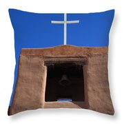 Santa Fe - San Miguel Chapel Throw Pillow