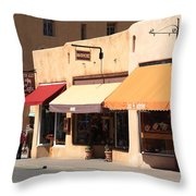 Santa Fe Shops Throw Pillow