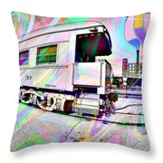 Santa Fe Train Number 37 Throw Pillow