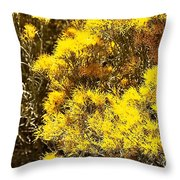 Santa Fe Yellow Throw Pillow