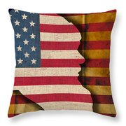 Santa Flag Throw Pillow