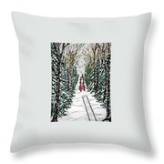 Santa Flying To Your House Throw Pillow