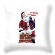 Santa Greeting Card Throw Pillow
