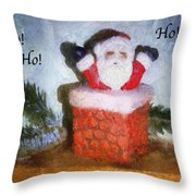 Santa Ho Ho Ho Photo Art Throw Pillow
