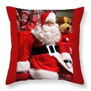 Santa Is Ready Throw Pillow