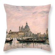 Santa Maria Della Salute And The Dogana Throw Pillow