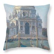 Santa Maria Della Salute Throw Pillow by Julian Barrow