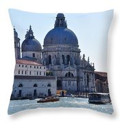 Santa Maria Della Salute Surrounded By Sparkling Waters Throw Pillow