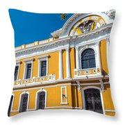 Santa Marta City Hall Throw Pillow