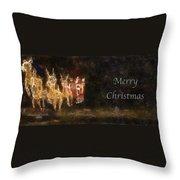 Santa Merry Christmas Photo Art Throw Pillow