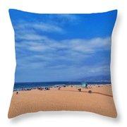 Santa Monica Beach California Throw Pillow