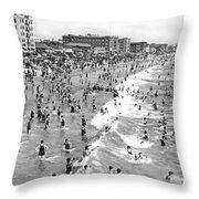Santa Monica Beach In December Throw Pillow