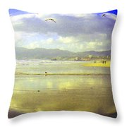 Santa Monica Beach Throw Pillow