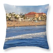 Santa Monica Beach View  Throw Pillow