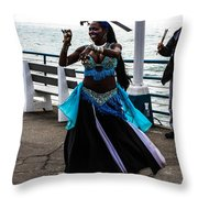 Santa Monica Belly Dancer Throw Pillow