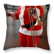 Santa New Orleans Style Throw Pillow