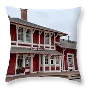 Santa Paula Station Throw Pillow