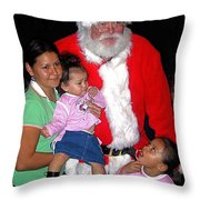 Santa Poses With Fans At Annual Christmas Parade Eloy Arizona 2004 Throw Pillow