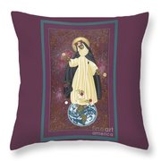 Santa Rosa Patroness Of The Americas 166 Throw Pillow