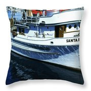 Santa Rosa Purse-seiner Fishing Boat Monterey Bay Circa 1950 Throw Pillow