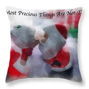 Santa The Most Precious Photo Art Throw Pillow