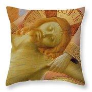 Santa Trinita Altarpiece Throw Pillow