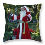 Santa Walt Disney World Throw Pillow