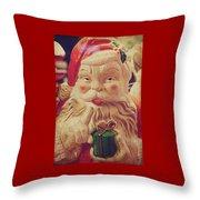 Santa Whispers Vintage Throw Pillow