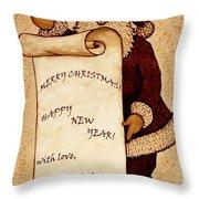 Santa Wishes Digital Art Throw Pillow