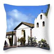 Santa Ynez Mission Solvang California Throw Pillow