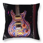 Santana Guitar Throw Pillow