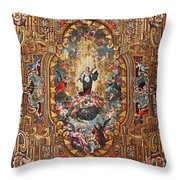 Santarem Cathedral Painted Ceiling Throw Pillow